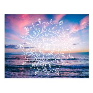 Cartão da mandala | de Boho do oceano
