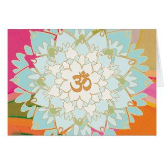 Cartão da mandala de Lotus