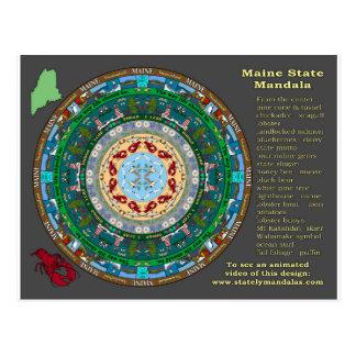Cartão da mandala do estado de Maine