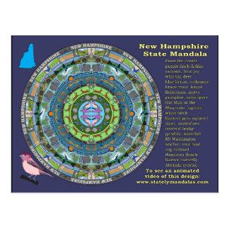 Cartão da mandala do estado de New Hampshire