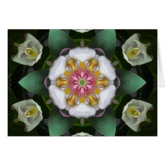 Cartão da mandala dos anjos da orquídea
