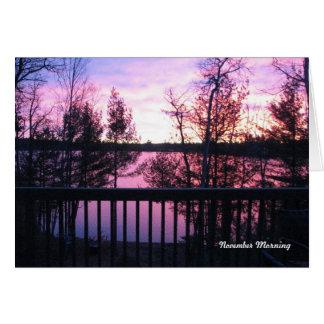 Cartão da manhã de novembro