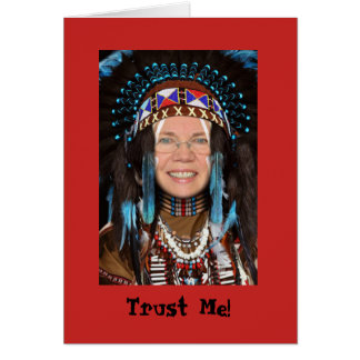 Cartão da mantilha do nativo americano