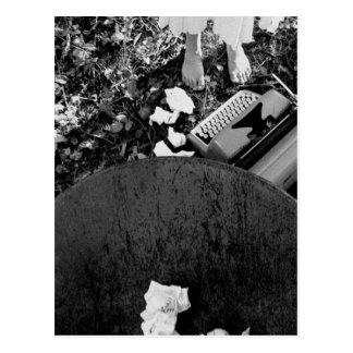 Cartão da máquina de escrever