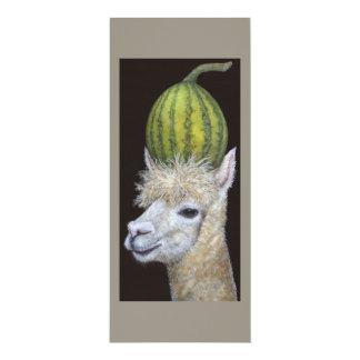 cartão da máquina desbastadora da melancia convite 10.16 x 23.49cm