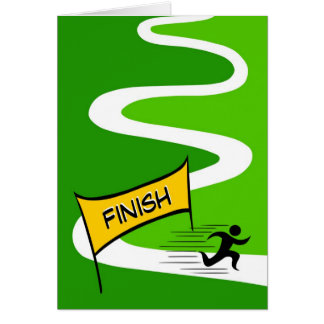 Cartão da maratona das felicitações
