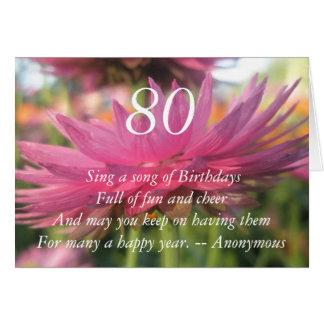 cartão da margarida de papel cor-de-rosa das