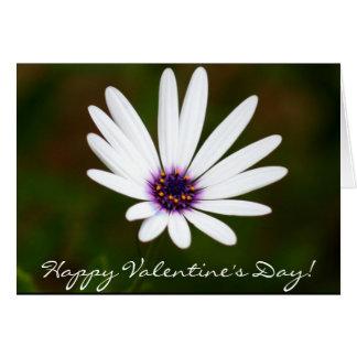 Cartão da margarida do feliz dia dos namorados