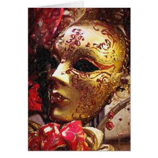 Cartão da máscara do carnaval de Nova Orleães