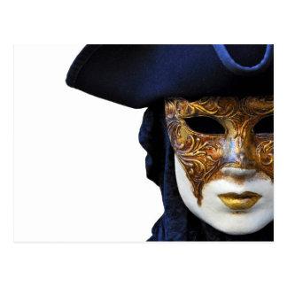 Cartão da máscara do teatro do carnaval de