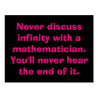 Cartão da matemática da infinidade