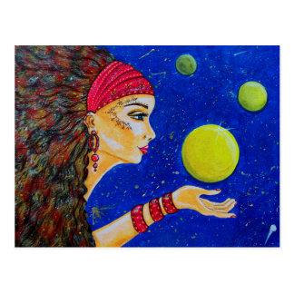 Cartão da meditação e dos sonhos