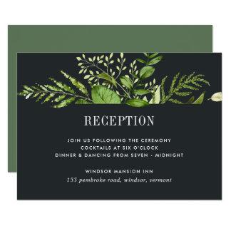 Cartão da meia-noite da recepção do jardim
