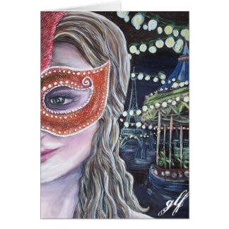 cartão da meia-noite do carnaval