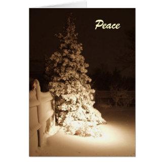 Cartão da meia-noite do feriado da paz