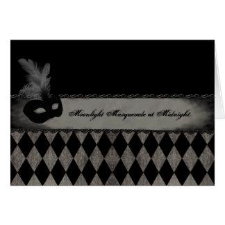Cartão da meia-noite do mascarada
