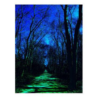 Cartão da meia-noite do trajeto