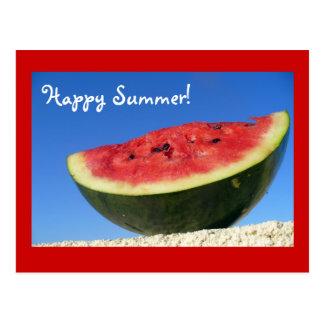 Cartão da melancia do verão