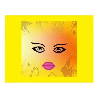 Cartão da menina da fantasia da luz do sol