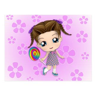 Cartão da menina de Chibi