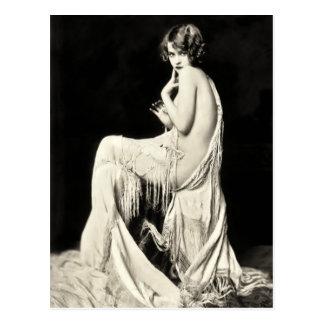 Cartão da menina de coro de Ziegfeld