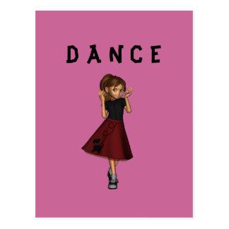 Cartão da menina de dança