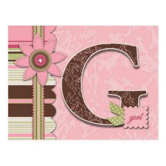 Cartão da menina de G Cartão Postal