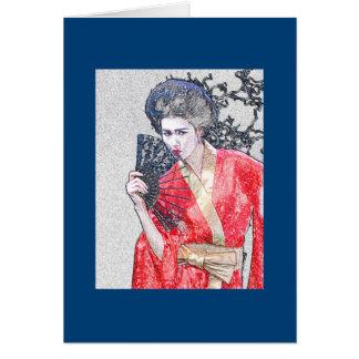 Cartão da menina de gueixa