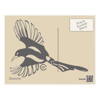 Cartão da mensagem do Magpie