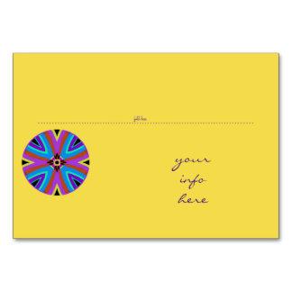 Cartão da mesa. Coloque a marca. Mandala.