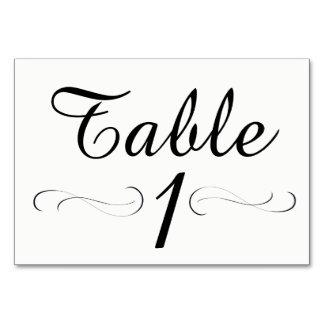 Cartão da mesa da mesa 1