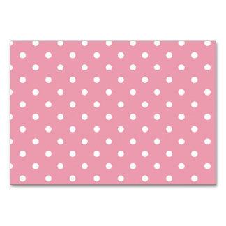 Cartão da mesa das bolinhas do rosa cor-de-rosa