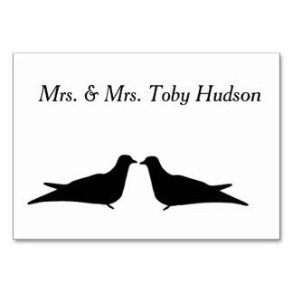 Cartão da mesa de dois pássaros