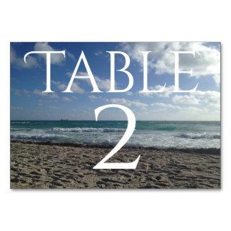 Cartão da mesa de Miami Beach