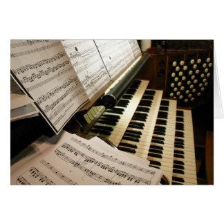 Cartão da mesa de música do órgão