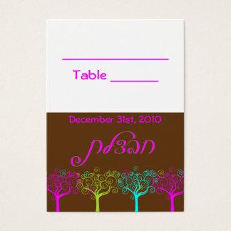 Cartão da mesa do casamento de Mitzvah do bastão