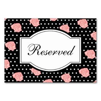 Cartão da mesa do rosa do rosa