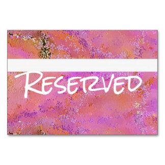 Cartão da mesa reservado