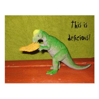 Cartão da microplaqueta do dinossauro e de milho