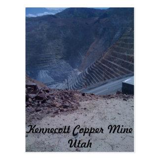 Cartão da mina de cobre de Kennecott