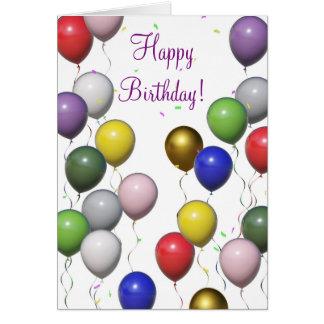Cartão da mistura do balão do feliz aniversario