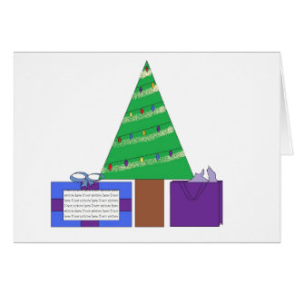 Cartão da moldura para retrato da árvore de Natal