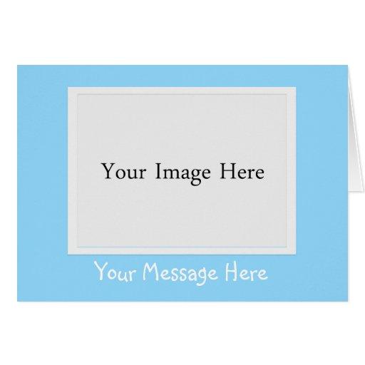 Cartão da moldura para retrato da foto dos azuis b