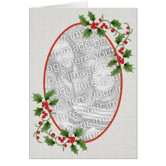 Cartão da moldura para retrato do azevinho