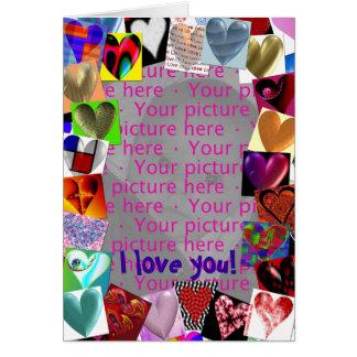 Cartão da moldura para retrato dos corações
