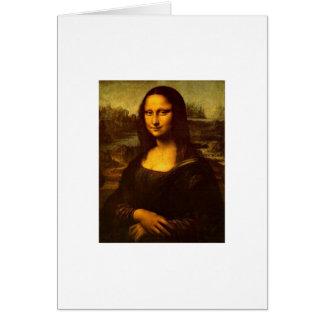 Cartão da Mona Lisa de DaVinci