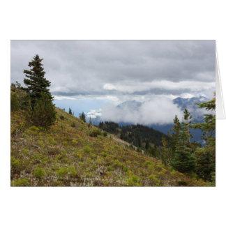 Cartão da montanha das citações do salmo