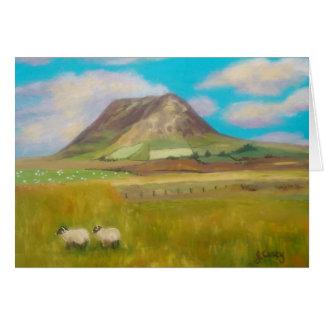 Cartão da montanha de Slemish por Joanne Casey