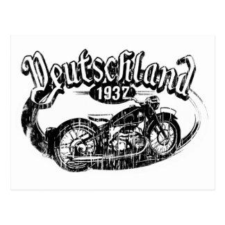 Cartão da motocicleta do vintage da alemanha