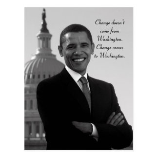 Cartão da mudança de Barack Obama
